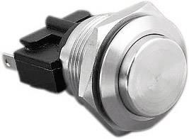 Tlačítko antivandal Bulgin MP0031/2, 250 V/AC, 5 A, nerezová ocel, 1 ks
