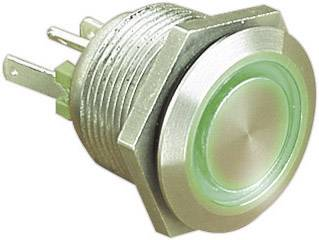 Stláčacie tlačidlo s ochranou pred vandalmi Bulgin MPI002/28/GN, 24 V/DC, 0.05 A, nerezová oceľ, 1 ks
