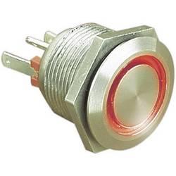 Tlačítko odolné proti vandalismu ESKA Bulgin, 1x vyp/(zap), 24VDC/50MA, 22 mm, červená