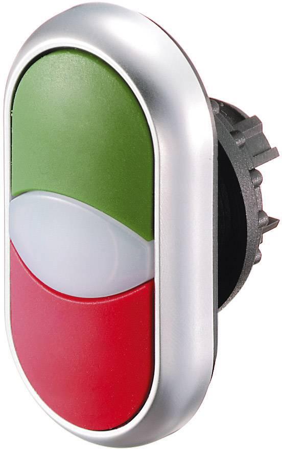 Dvojitý tlakový spínač Eaton M22-DDL-WS-X1/X0, biela, čierna, 1 ks