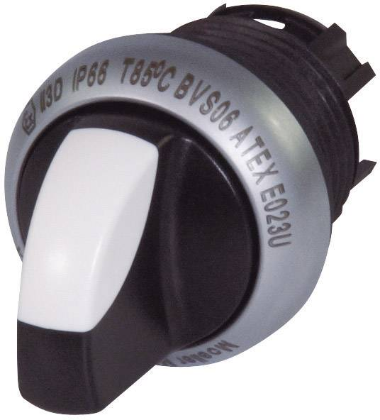 Tlačidlo voľby Eaton M22-WK, 1 x 40 °, čierna, 1 ks