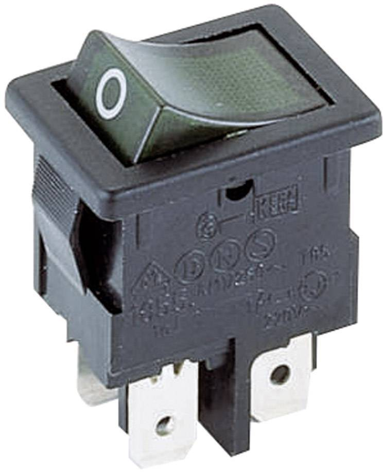 Kolískový spínač s aretáciou Marquardt 1855.0108, 250 V/AC, 4 A