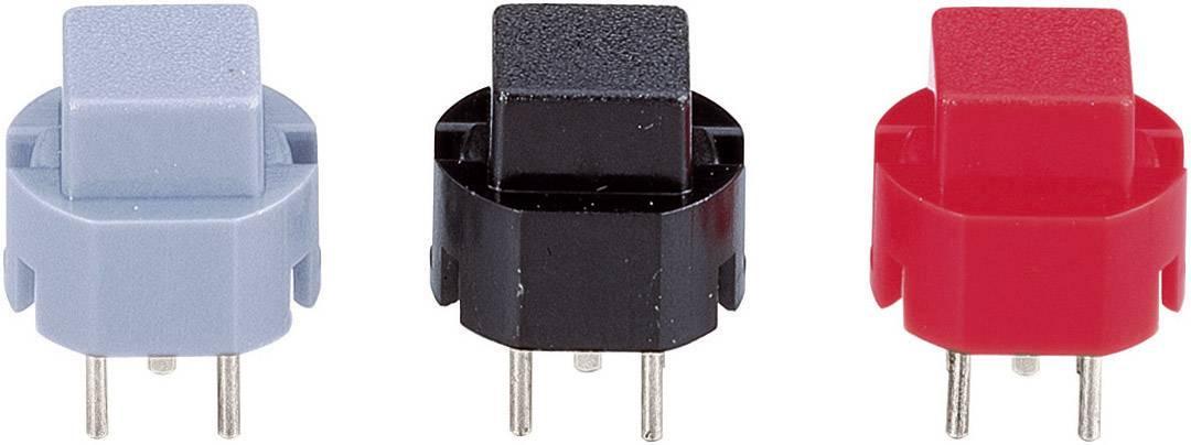 Impulzné tlačidlo 532.000.007, 35 V/DC, 0.01 A, červená, 1 ks