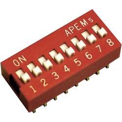 DIP spínač APEM DS-02, 10,16 x 6,9 mm, 500 V/DC, standardní, 2pól.