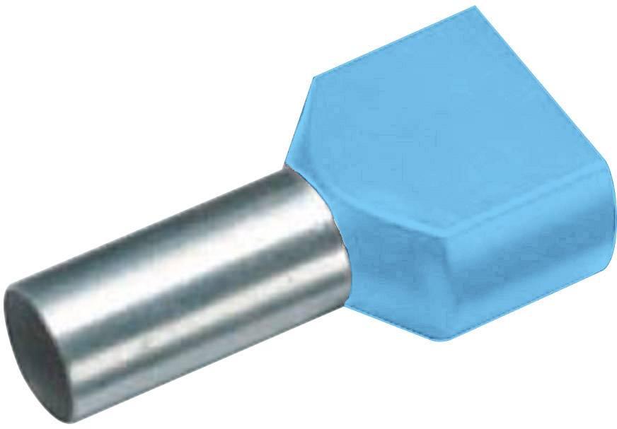 Dvojica dutiniek Vogt Verbindungstechnik 470208D, 0.75 mm², 8 mm, čiastočne izolované, modrá, 100 ks