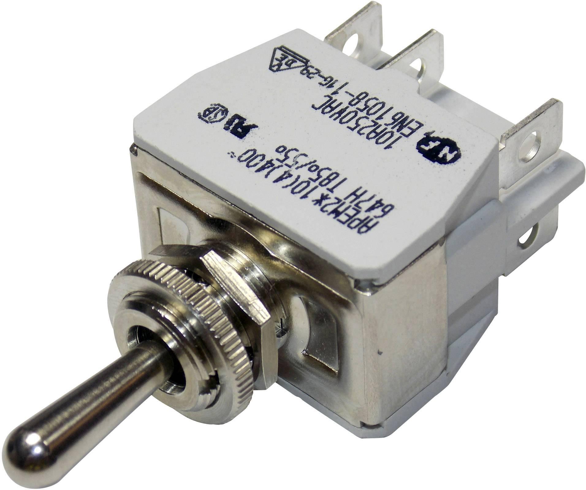 Pákový spínač APEM 647H/2 / 6473676, 250 V/AC, 10 A, 1 ks