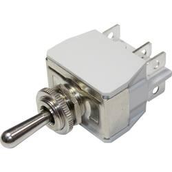 Páčkový spínač pro vysoké proudové zatížení APEM 649H/2 / 6493676, 250 V/AC, 10 A, 2x zap/vyp/zap, 1 ks