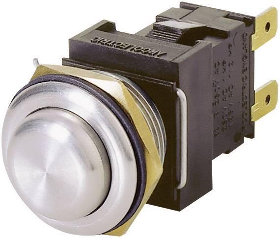 Tlačítko antivandal Arcolectric H8351RPAAA, 250 V/AC, 16 A, kov, 1 ks