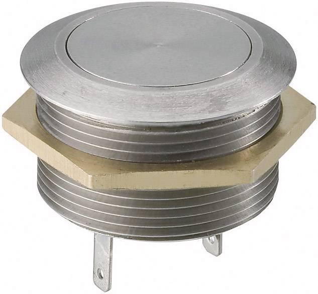 Stláčacie tlačidlo s ochranou pred vandalmi TRU COMPONENTS MSW2401, 12 V/DC, 0.005 A, nerezová oceľ, 1 ks