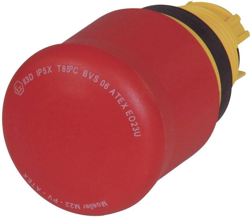 Núdzový vypínač Eaton M22-PV, uvoľnenie, červená, 1 ks