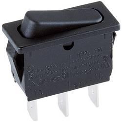 Kolébkový spínač Marquardt 1833.3302, 1x zap/zap, 250 V/AC, 10 A, černá