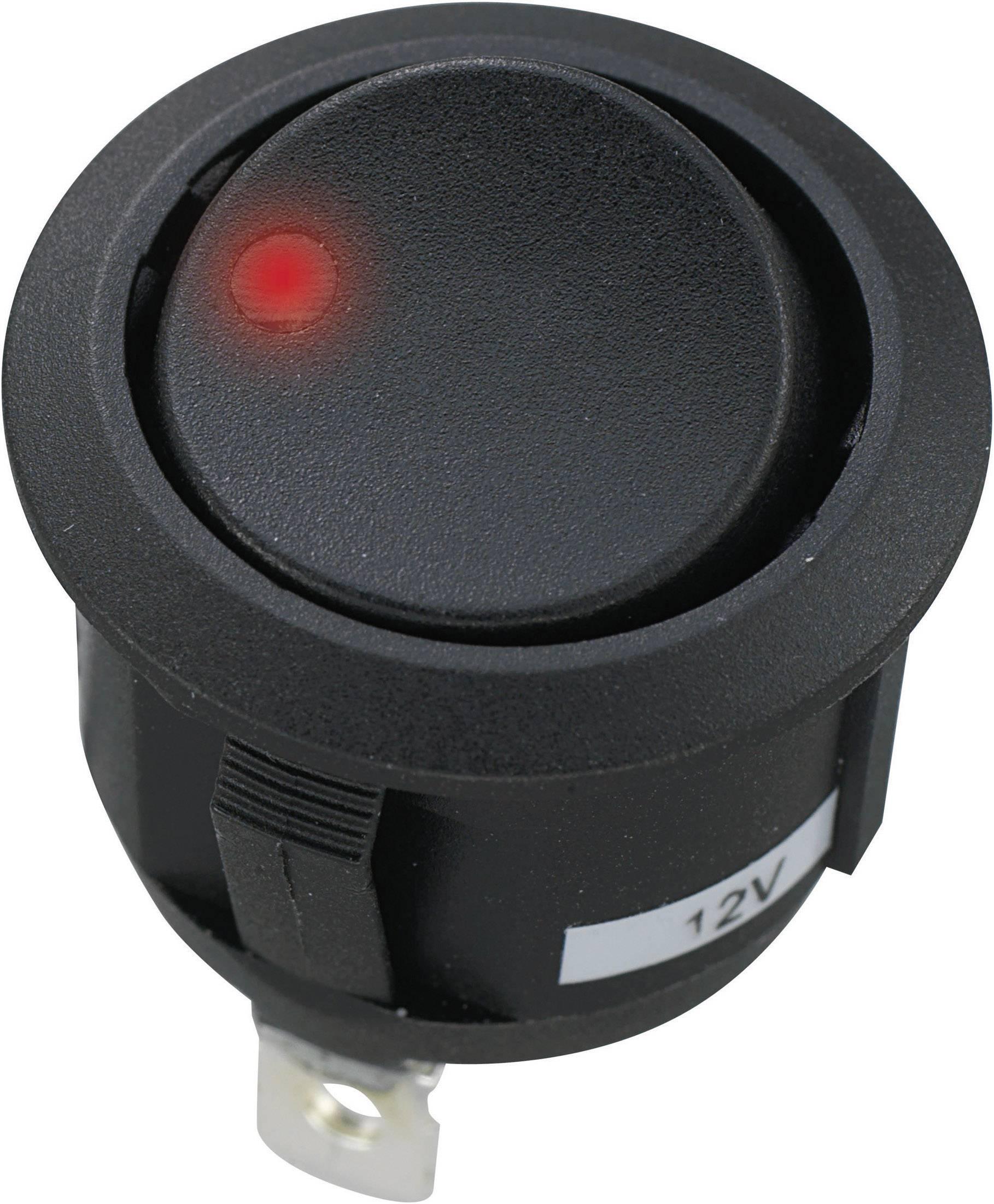 Kolébkový přepínač do auta SCI R13-112DL-02, 12 V/DC, 20 A, s aretací/0/s aretací, 1 ks