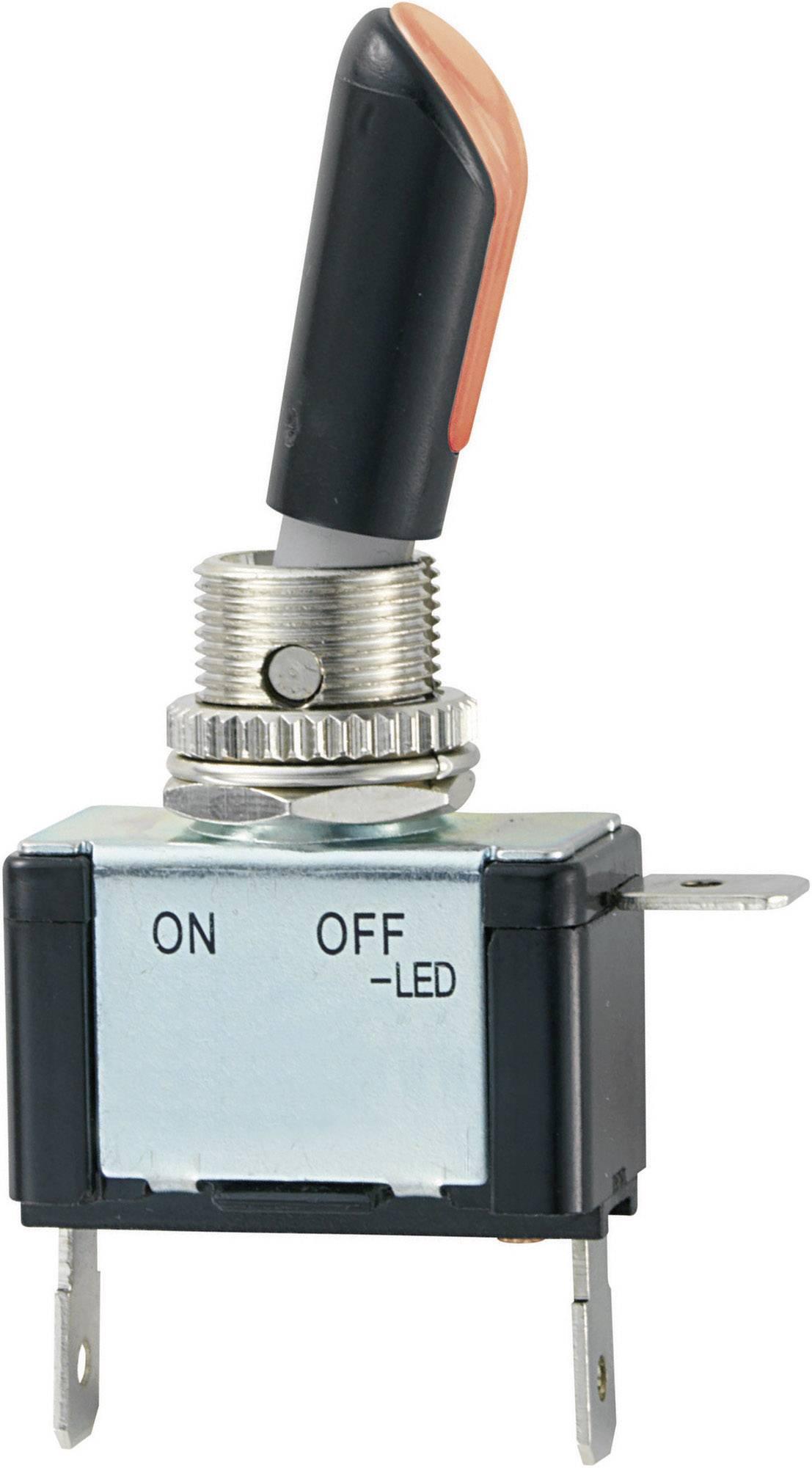 Pákový spínač SCI R13-404AL2, 12 V/DC, 30 A, 1 ks