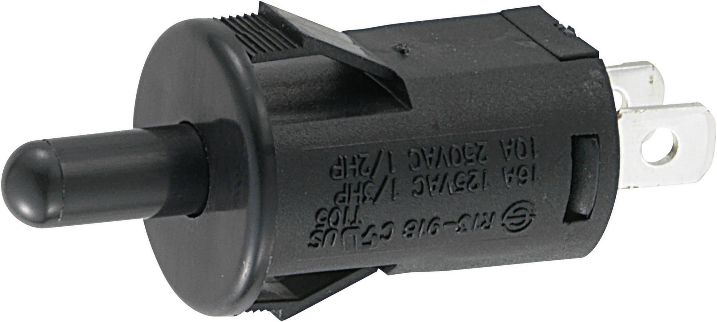 Tlačidlo SCI R13-918, 250 V/AC, 10 A, čierna, 1 ks