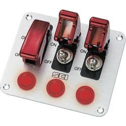 Ovládací panel pro auta TRU COMPONENTS TC-R18-P3A, 12 V/DC, 20 A, s aretací, 1 ks