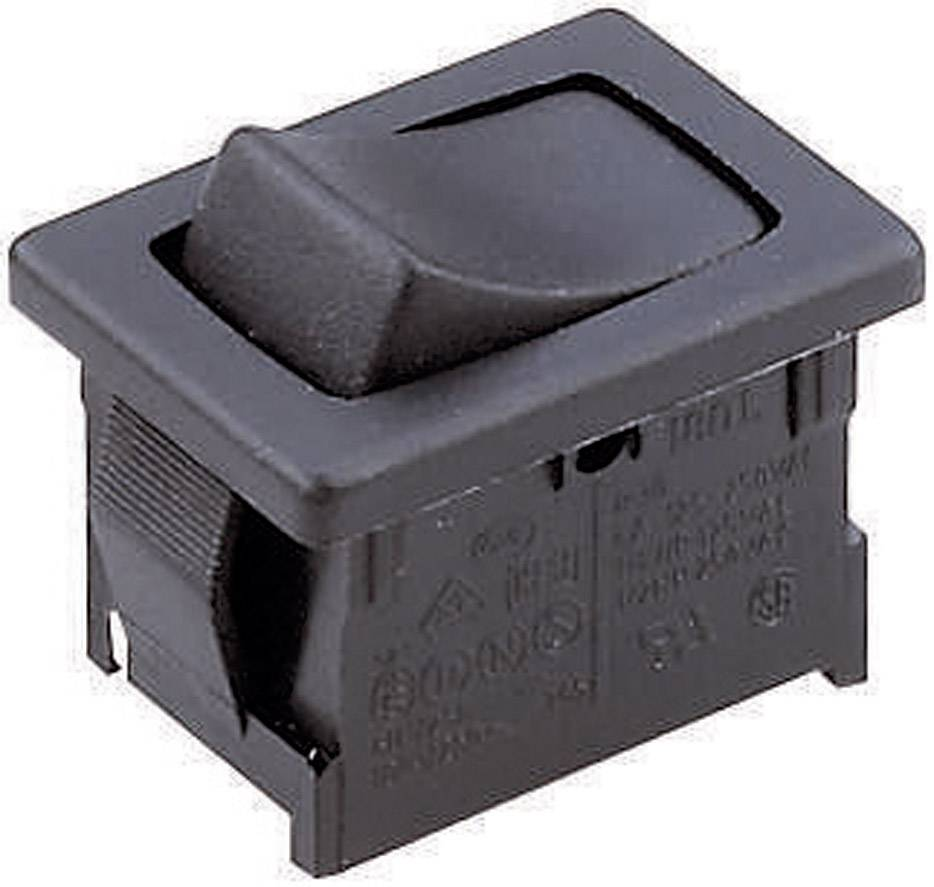 Kolískový spínač s aretáciou Marquardt 1801.1101, 250 V/AC, 6 A, 1x vyp/zap, IP40, 1 ks