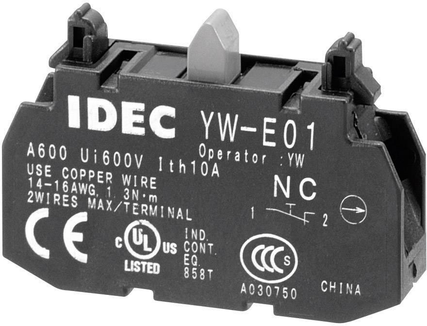 Spínacie kontaktné teleso Idec YW-E01, 1 rozpínací, bez aretácie, 240 V/AC, 1 ks