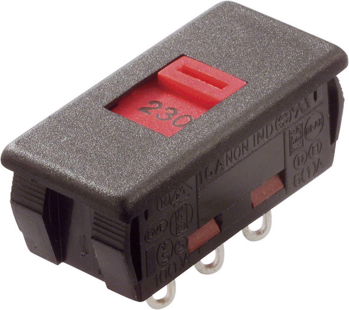 Posuvný přepínač Arcolectric 250 V/AC 6 A 2x zap/zap T2228EAAF 1 ks