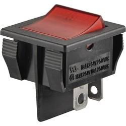 Kolébkový spínač s aretací TRU COMPONENTS TC-R13-30B-01 RT, 250 V/AC, 10 A, 1x vyp/zap, červená, 1 ks