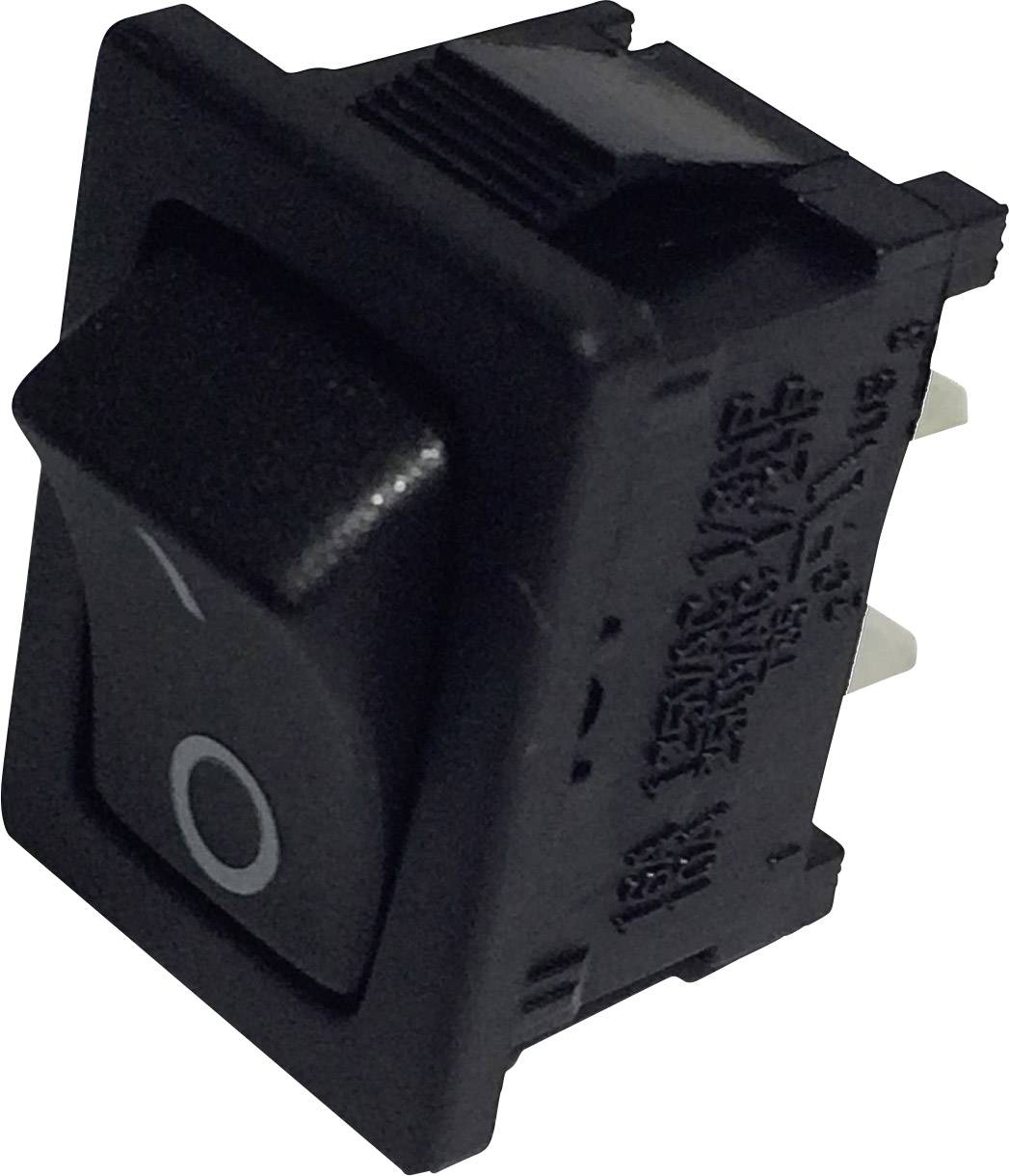 Kolébkový spínač SCI R13-66A-02 s aretací 250 V/AC, 6 A, 1x vyp/zap, černá, 1 ks