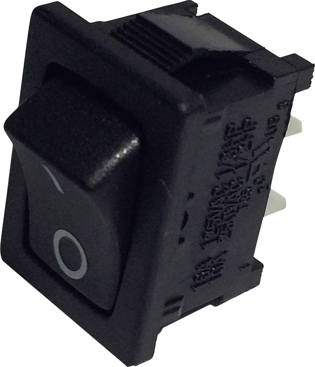 Kolískový spínač SCI R13-66A-02 s aretáciou 250 V/AC, 6 A, 1x vyp/zap, čierna, 1 ks