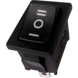 Kolébkový spínač s aretací/0/s aretací TRU COMPONENTS TC-R13-66D-02, 250 V/AC, 6 A, 1x zap/vyp/zap