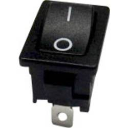 Kolébkový spínač bez aretace TRU COMPONENTS TC-R13-66F-02, 250 V/AC, 6 A, 1x vyp/(zap), 1 ks