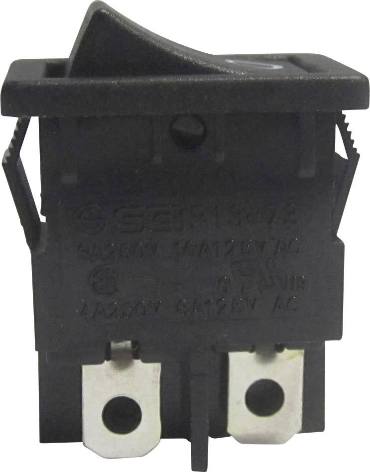 Kolískový spínač s aretáciou SCI R13-73A-02, 250 V/AC, 6 A