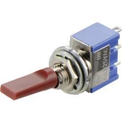 Miniaturní páčkový přepínač Miyama MS 500 H-MF, 250 V/AC, 3 A, 2x zap/vyp/zap, 1 ks