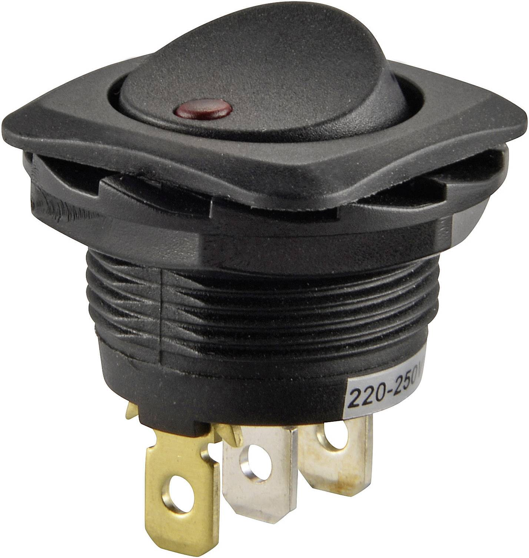 Kolískový spínač s aretáciou SCI R13-135B2-02, 250 V/AC, 10 A