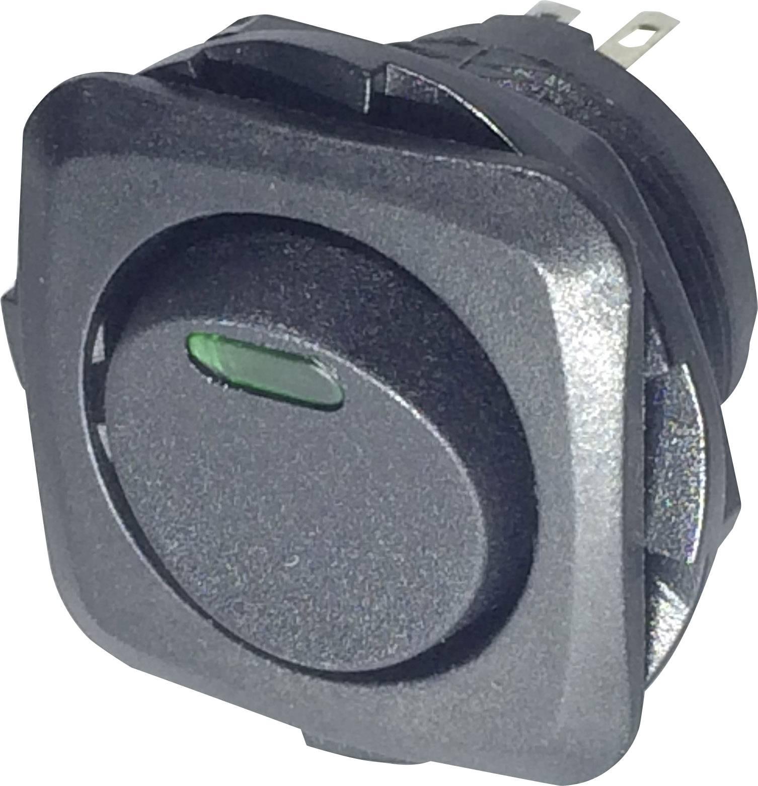 Kolébkový spínač s aretací SCI R13-135L-02, 250 V/AC, 10 A