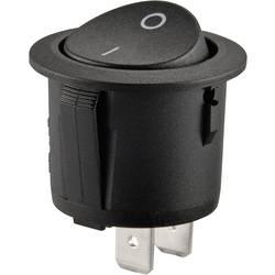 Kolébkový spínač SCI R13-223A-01, 1x vyp/zap, 250 V/AC, černá