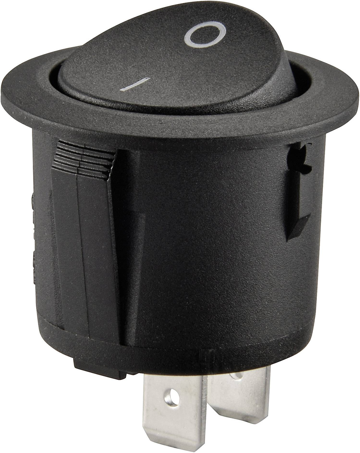 Kolískový spínač s aretáciou SCI R13-223A-01, 250 V/AC, 10 A, 1x vyp/zap, 1 ks