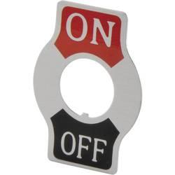 Označovací štítek OFF/ON TRU COMPONENTS TC-Indicator Plate ON/OFF, 1 ks