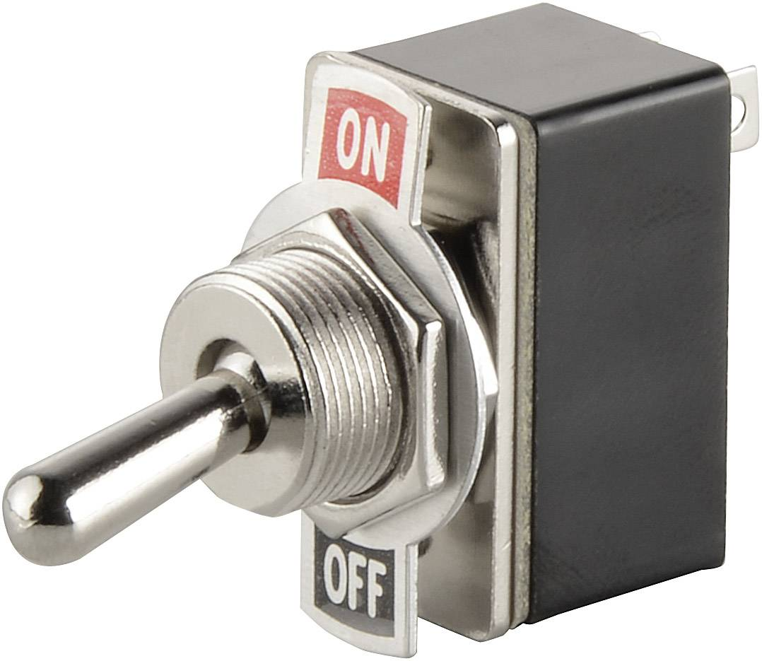 Páčkový spínač SCI R13-2-05, 250 V/AC, 1.5 A, 1x vyp/zap, 1 ks