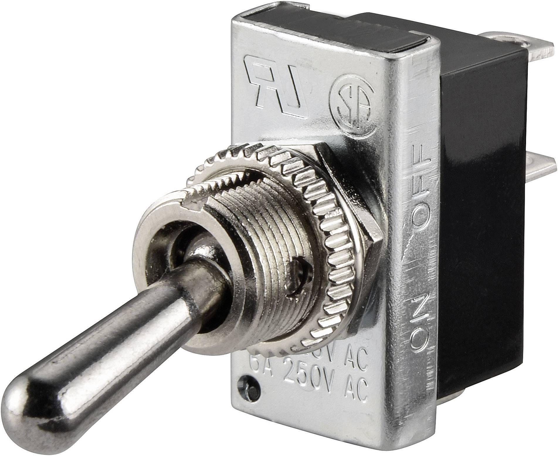 Pákový spínač SCI R13-25A2-01, 250 V/AC, 6 A, 1 ks