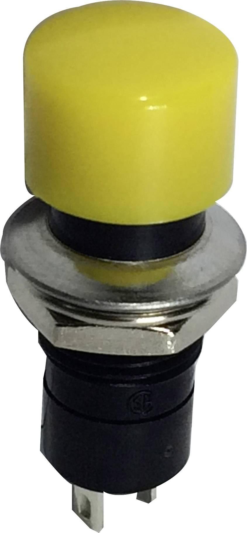 Stláčacie tlačidlo SCI R13-40A-05YL, 250 V/AC, 1.5 A, 1 ks