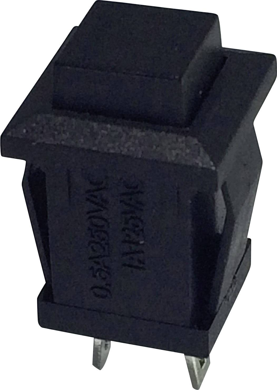 Tlačidlo SCI R13-57B-05BK, 250 V/AC, 0.5 A, čierna, 1 ks