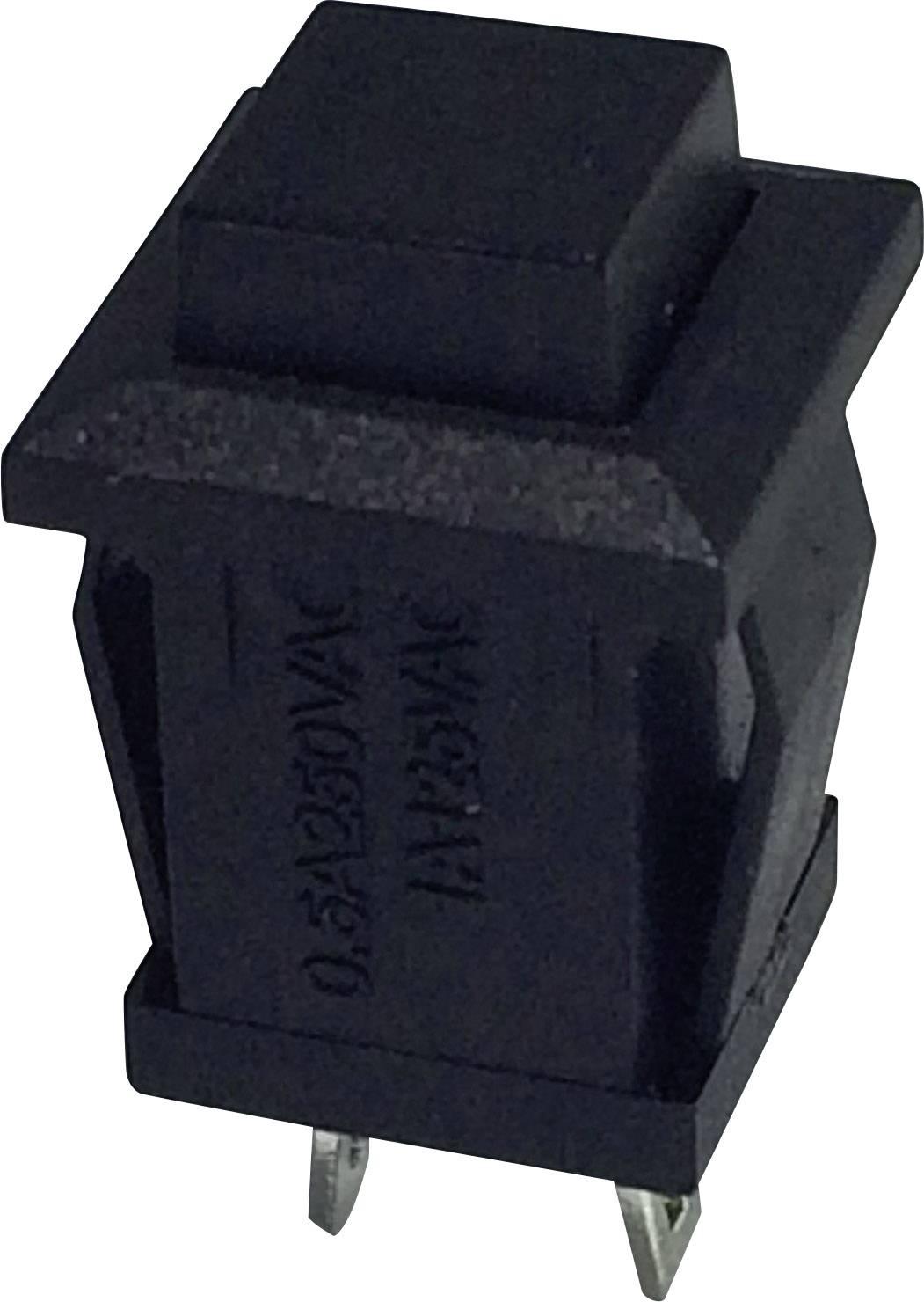 Tlačidlo TRU COMPONENTS TC-R13-57B-05BK, 250 V/AC, 0.5 A, čierna, 1 ks