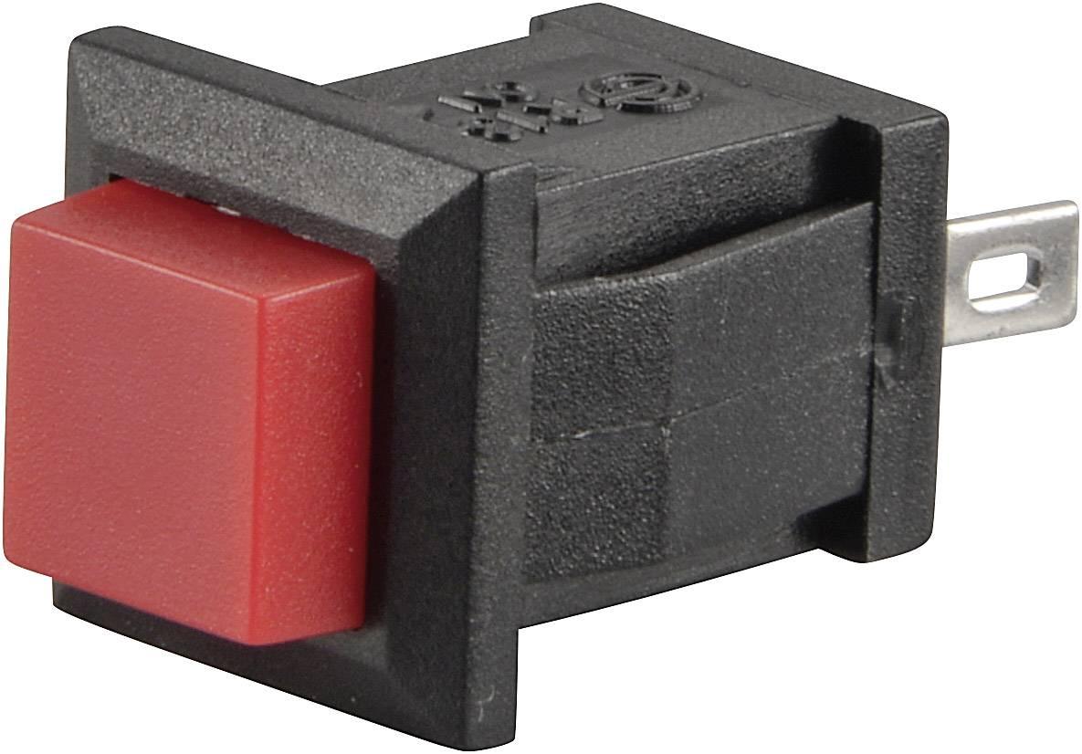 Tlačidlo SCI R13-57A-02RT, 250 V/AC, 0.5 A, červená, 1 ks