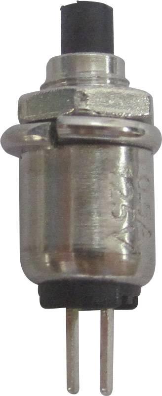 Tlačidlo SCI R13-81A-05BK, 125 V/AC, 0.5 A, čierna, 1 ks