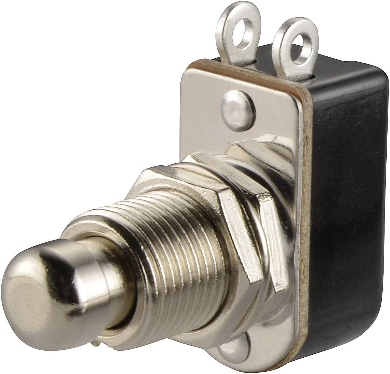 Tlačidlo SCI R13-85A-05, 250 V/AC, 3 A, kov, 1 ks