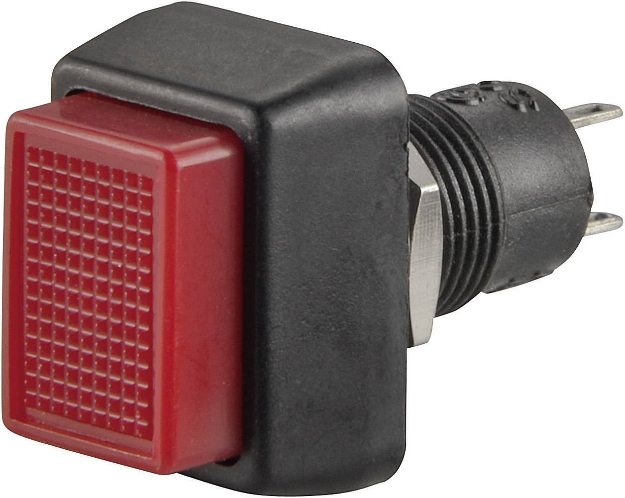 Tlačidlo SCI R13-92A-05BK, 250 V/AC, 1 A, čierna, 1 ks