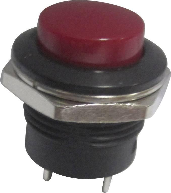Tlačítko SCI, R13-507A-05RT, 250 V/AC, 3 A, vyp./(zap.), červená