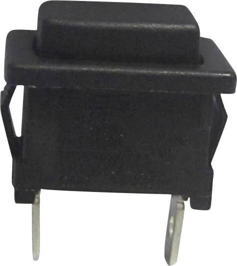 Tlačidlo SCI R13-516A-02, 250 V/AC, 6 A, čierna, 1 ks