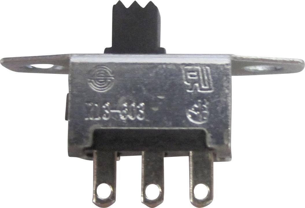 Posuvný přepínač TRU COMPONENTS TC-R13-603C-05, 250 V/AC, 3 A, 1x zap/zap, 1 ks