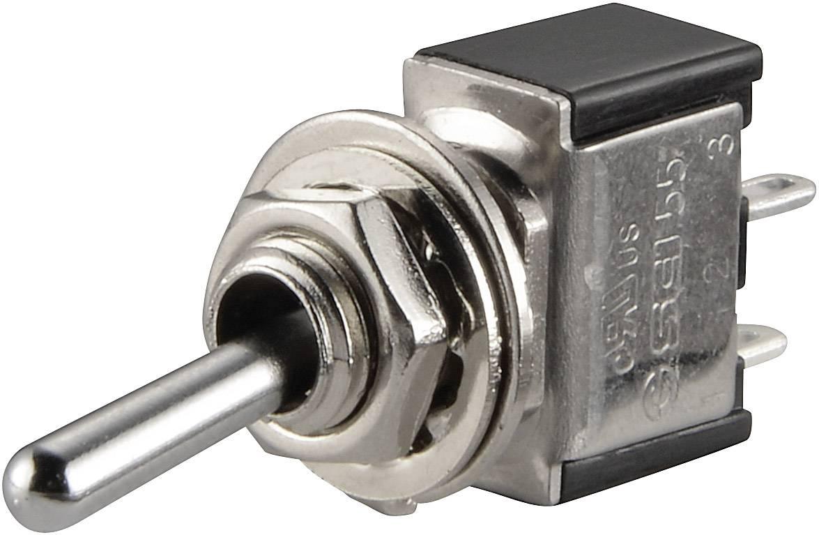 Páčkový spínač TRU COMPONENTS TC-TA101A1, 250 V/AC, 3 A, 1x vyp/zap, 1 ks