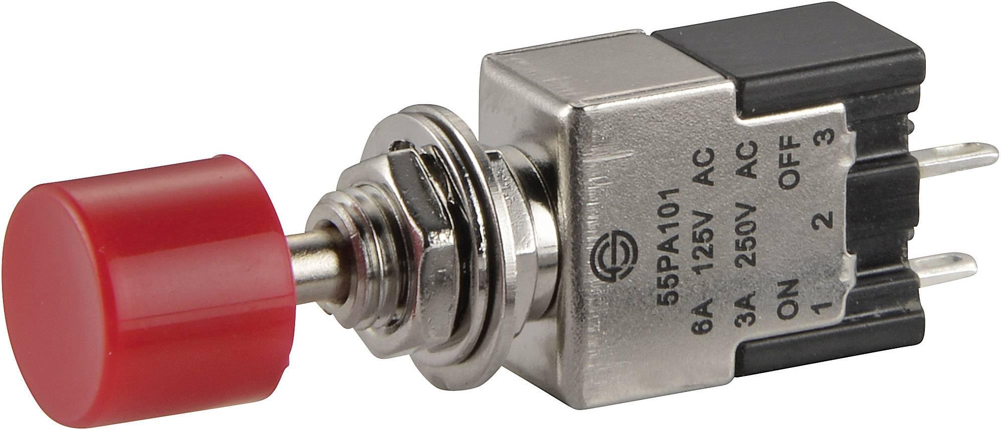 Tlačidlový spínač SCI PA101A1RT, 250 V/AC, 3 A, 1 ks