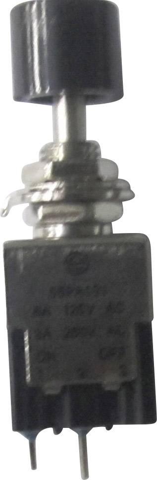 Tlačidlový spínač SCI PA101A1BK, 250 V/AC, 3 A, čierna, 1 ks