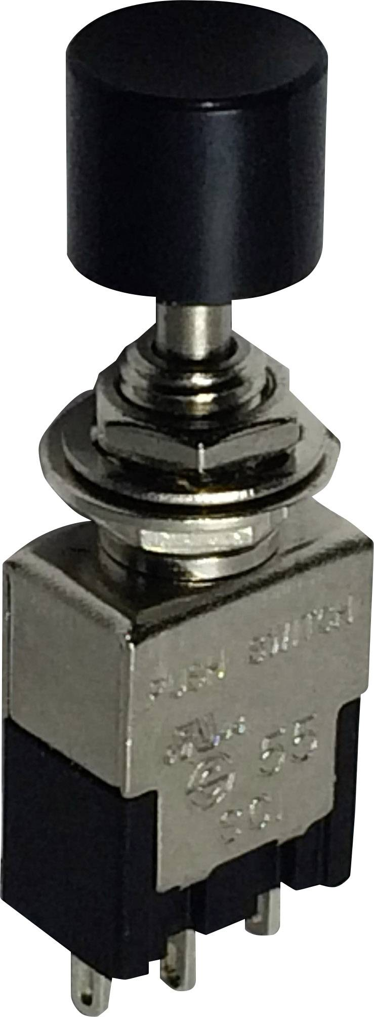 Tlačidlový spínač SCI PA102A1BK, 250 V/AC, 3 A, čierna, 1 ks